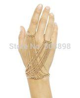 Retail S013 Women Fashion Jewelry Metal Hand finger Bracelets Bangle Chains  Body chain