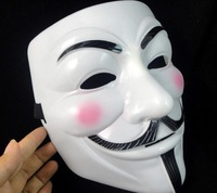 Party mask new V for Vendetta team Anonymous Movie Guy Fawkes Vendetta Mask Halloween Cosplay 100pieces/lot free shipping