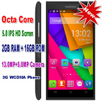 2014 New arrival 3G original brand Octa Core mobile phone 5.0 inch IPS HD MTK6592 android phone 2GB RAM 16GB ROM cell phones
