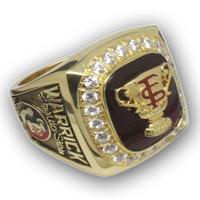 FSU 1999 Florida States Seminoles Sugar Bowl Championship Ring, College Champions Ring, Custom Championship Ring, sport ring