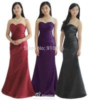 2014 FairOnly Fashion Elegant Strapless Sweetheart Pleated Bodice Bridesmaids Dress Formal Dress