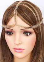 personality   fishbone shape  hair hoop hair accessories.hair chain