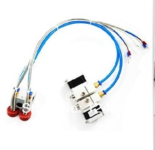3D printer parts distal extruder double nozzle K type thermocouple and 100k thermistor print head free shipping