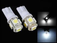T10 194 194 168 2825 W5W 5 SMD 5050 Car LED Wedge Light Bulb Lamp White LED Car Lights Bulb Free Shipping
