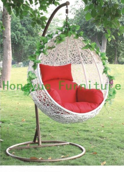 Aliexpress.com: Koop patio eivorm witte rotan hangstoel, tuinmeubilair ...