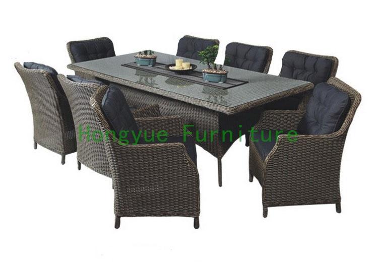 Brown pe rattan dining furniture(China (Mainland))