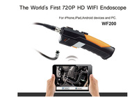 HD 720P Wireless WIFI Endoscope Video Inspection Snake Camera 3M 2.0 Mega Pixles for Smartphone  tablet PC Free fashion tool bag