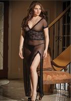 Free shipping wholesale sexy lingerie exotic plus size summer dress evening dress size XXXL