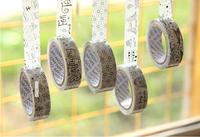 TP19 Free Shipping Wholesale 10pcs Cute Cartoon mix Black/white Tape Stick Stationery Office Adhesive Wedding DIY 15mm*10m