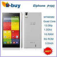 "Original Elephone  P10C WCDMA Mobile Phone Elephone P10 MTK6582 Quad Core Android 4.4 5.0"" 1280x720P 1GB RAM 8GB ROM 13MP GPS"