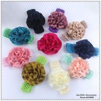 Infant Baby Flower Headbands Children Girls Crotch Elastic Hair Band Kids Headwear Accessories,FS235+Free Shipping