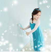 Anime new Arrive Frozen Princess Elsa fairy cosplay costume lolita punk kawaii girs kids Snow dress