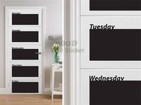 Weekly planner  blackboard wall sticker, Vinyl waterpoof  Removable chalkboard,Free Shipping