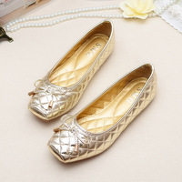 Free shipping Europe comfortable flat shoes BOW Ballet Flats shoes large size shoes Women Flats plus size 35--41