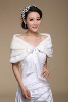 Bridal Wraps 3 Layer Faux Fur Ivory Wedding Jackets Shawl Stole Wrap For Wedding Dress Elegant Wedding Accessories Fast Delivery
