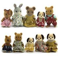 Lot 10 Sylvanian Families Dog Bear Rabbit Squirrel 3'' Dolls House figures M325