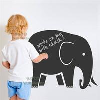 Elephant chalkboard wall sticker, Vinyl waterpoof  Removable chalkboard,Free Shipping