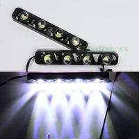 "2Pcs 2014 New Style ""Eagle Eye"" High Power 4LEDs 8W Waterproof E4 DRL Daytime Running LED Light Lamp"