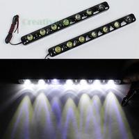 """2Pcs Black """"Eagle Eye"""" High Power 7LEDs 10W Waterproof E4 DRL Daytime Running LED Light Lamp"""