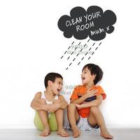 Rain Cloud chalkboard wall sticker, Vinyl waterpoof  Removable chalkboard,Free Shipping