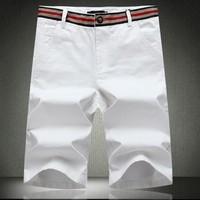 2014 new fashion men's short pants casual pants solid color plus size 38 40 42