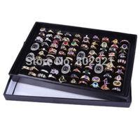 New 100 Slots Ring Storage Ear Pin Display Box Jewelry Organizer Holder Show Cas