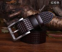 Free shipping 2014 popular hollow Floral strip women/men belt brife pinhole buckle genuien leather belt for women/men