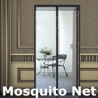 New Summer Screen Door Prevent Mosquito Curtain Portiere Magnetic Stripe Magic Mesh Mosquito Net #8364