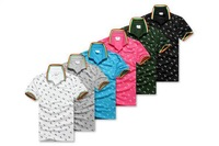 2014 brand new fashion leisure lapel short-sleeved T-shirt L word Lovers