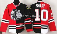 2014 New Chicago Blackhawks 10 Patrick Sharp Skeleton Head Split Hockey Jersey Cheap Best Quality Stitched logos Free shipping