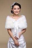 Bridal Wraps Warm Faux Fur Bolero Bridal Ivory Color Wedding Wrap Shawl Jacket Coat Elegant Wedding Accessories