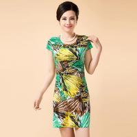 Free Shipping Print Casual Sleeveless O-Neck Women Summer Dress XL XXL XXXL XXXXL XXXXXL XXXXXXL