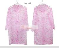 unisex polka  dots  thickening PVC fashion  outdoor raincoat poncho