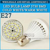 1pcs LED bulb lamp bulbs led lights E27 3W 5W 7W 9W 12W 5730SMD Cold white/warm white AC220V 230V 240V Free shipping