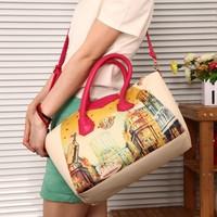 New 2014 printing women bag vintage graffiti single shoulder bag handbag women messenger bags,BAG185