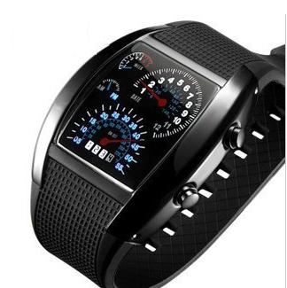 Race Speed Car Dashboard Panel Design Fashion Luxury Brand Digital LED Watch Military Men Sports Hour Clocks Relogio Masculino(China (Mainland))
