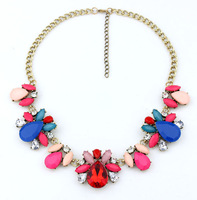 luxurious color ruby big short clavicle necklace restoring ancient ways female accessories wholesale jewelry statement necklace