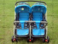 Twins baby stroller double wheelbarrow buggiest folding GOODBABY