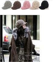 Free shipping  fashion knit visors,women's Twist cap, Skullies & Beanies  5pcs/lot   Wholesale