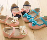 Spring and autumn children shoes  female single shoes bow little girl shoes wind leather princess shoes