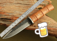 Damascus Straight Knife Handmade Knife Damascus Steel Fixed Blade Knives With Wood Handle 25 cm Full Length
