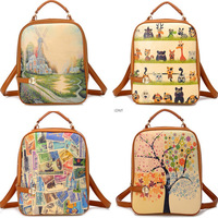 Hot Sell New Korean Leisure PU Leather Women Backpack School Bag Free Shipping