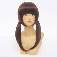 TARI TARI Character Brown Medium Long Behind Parting Styling Cosplay Wig