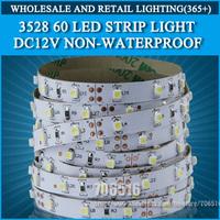 Free ship 5m 300 LED 3528 SMD 12V flexible light 60 led/m,LED strip Christmas white/warm white/blue/green/red/yellow