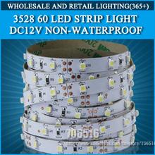 Free ship 5m 300 LED 3528 SMD 12V flexible light 60 led/m,LED strip Christmas white/warm white/blue/green/red/yellow(China (Mainland))