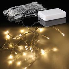 Warm White 40 LED Battery String Light Lamp Fairy Christmas Wedding Party(China (Mainland))