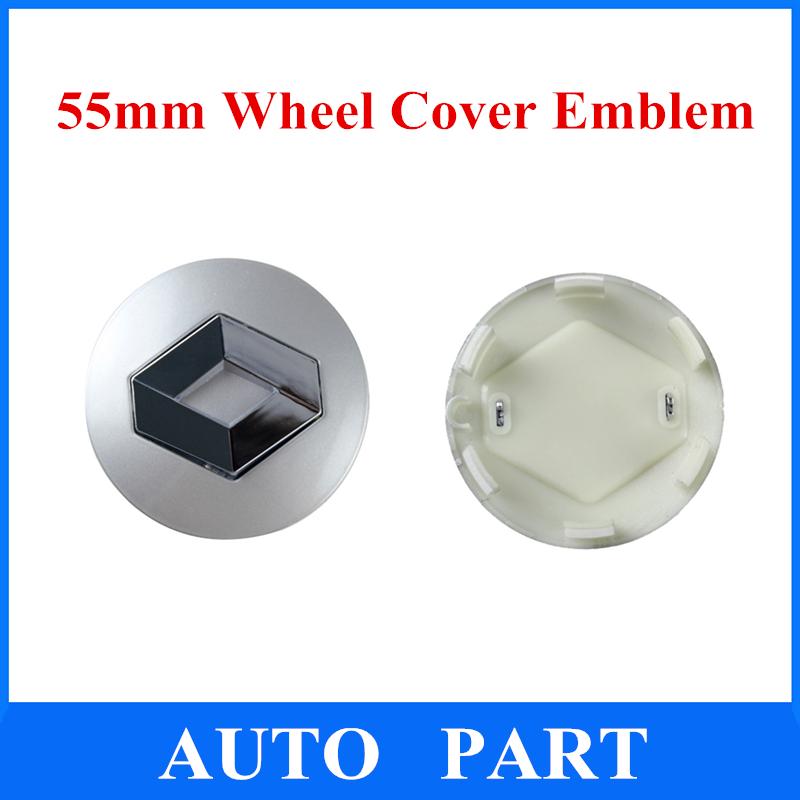 4pcs/lot 55mm moyeu de roue bouchon centre de roue de voiture emblème badge logo pour renault livraison gratuite
