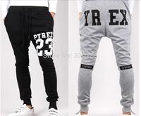 New 2014 Mens Joggers: Fashion Low Drop Crotch Harem Pants Trousers Hip Hop Slim Fit Skinny Sweatpants Men for Jogging Dance