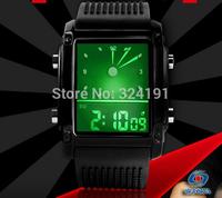 shipping free LCD colorful background fashion wrist watch , hot sale 30 m waterproof   wrist watch