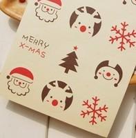 120pcs Christmas gift sealing paste / decorative paste version Christmas stickers